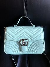 Authentic Gucci Marmont Leather Top Handle Bag