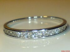 9ct white gold hallmarked 0.25 carat real natural diamond  eternity ring size m