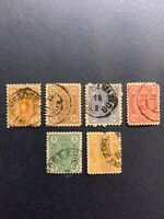 1875-85 FINLAND National Arms,Set of 6 stamps