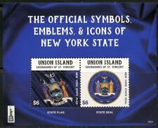 Uion Island 2016 Official Symbols Emblems & Icons Of New York State S/S Mint Nh