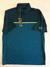 Under Armour New Playoff 2.0 Chest Stripe Golf Polo Men's Size Large 833
