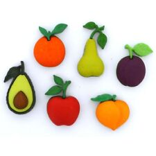 Jesse James Buttons - Dress It Up - FARM FRESH 10409 - Fruits Avocado Sew Craft