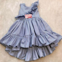 Toddler Kid Baby Girl Summer Sleeveless Princess Party Pageant Ruffle Tutu Dress