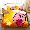 3D Kirby Kids Duvet Cover Bedding Set Comforter Cover Pillow Case Quilt Cover