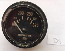 Vintage Stewart Warner SW Oil Temperature Gauge Meter 428077 Steampunk D4