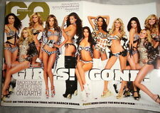 GQ British UK 2008 Adriana Lima Alessandra Ambrosio Victorias Secret show poster