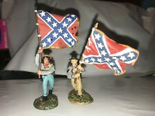 CONTE CONFEDERATE COLOR BEARERS FACTORY PAINTED IN BOTH POSES 1/32 SCALE