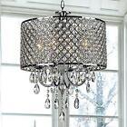 4 Light Chrome Metal Crystal Chandelier Pendant Light Modern Ceiling Lamp Decor