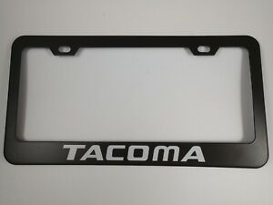 New TOYOTA TACOMA Black Metal License Plate Frame incl. Hardware