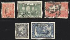 1927 Canada SC# -141-145-60th Anniversary of Confederation-Lot CU259-Used