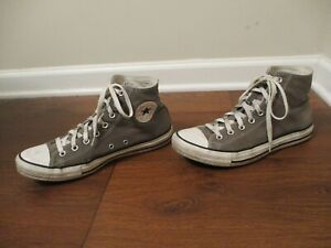 Used Sz 10 Fit Like 10.5-11 Converse Chuck Taylor All Star Hi Shoes Gray