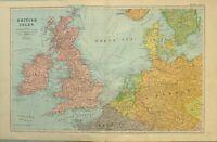 Cartina Inghilterra E Scozia.Carta Geografica 1700 Inghilterra Scozia Irlanda Isole Ebay