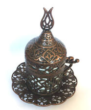 HEMSTICH Design Turkish Espresso Coffee Mug Porcelain Cup Lid Saucer 5 colours