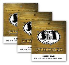 SIT Strings GB1252 Light Golden Bronze 80/20 Acoustic (3-PACK)