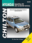 Chilton Books 32200 Repair Manual fits 2001-2007 Hyundai Santa Fe