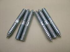 bois pour métal chevilles Meuble Fixation vis m8x60mm Pack x 6, plaqué zinc