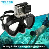 TELESIN Diving Scuba Mask With Removable Mount for GoPro SJCAM Eken Xiaomi Yi