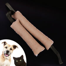 Dog Bite Tug Training Toy Durable Jute Stick Puppy Pet Biting Shepherd Playing