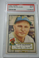 1952 Topps - Clyde McCullough - #218 - Red Back - PSA 7 - NM