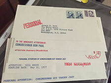 6 Fund raising envelopes for Gerald Ford, Ron Paul, Bill Brock etc see photo