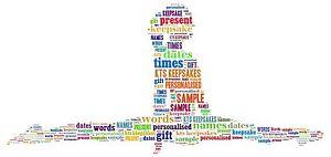word art personalised gift present keepsake birthday Gymnastics girl splits