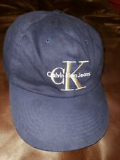 2a421520e8e Vintage Calvin Klein Jeans CK Blue Adjustable Snapback Baseball Cap Logo  1990s