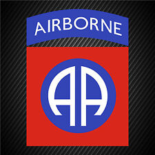 US Army 82nd Airborne Division Insignia Vinyl Graphics Decal Sticker Car Window