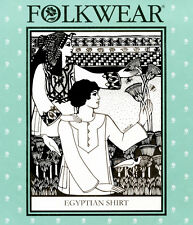 Folkwear Egyptian Shirt, Galabia Robe Caftan Men/Women XS-XL Sewing Pattern 104