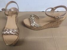 c53145a68 Boohoo Maya Grace Rose Gold Flatform Sandals Cork UK 7 EUR 40 3.5