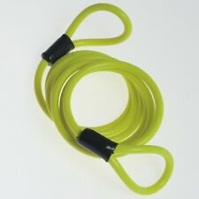 Motorcycle Motorbike Scooter Accessories Disc Lock Reminder Cable Yellow