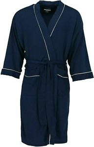MEN'S WAFFLE ROBE FRUIT OF THE LOOM POLYESTER SOFT LIGHTWEIGHT NAVY 2X / 3X