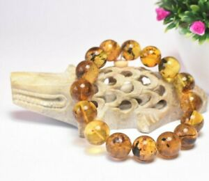 Amber Bracelet Beads Natural Stone Gem Authentic Dominican 15.84 mm (34.6 G)A926