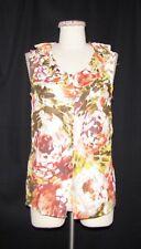5986698b61d2d Escada Multi-Color Floral Print w Ruffled Neckline Slvless Silk Blouse  34eur NEW