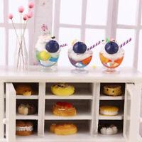 1Pc 1:12 Dollhouse Miniature Ice Cream Cups Doll House Kitchen Food Accessori WH