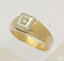 ♦♦ Solitär Ring in 18 kt 750er Gelb Weiß Gold mit Brillant Brilliant Diamant ♦♦