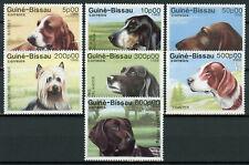 Guinea-Bissau Dogs Stamps 1988 MNH Basset Hound Yorkshire Terrier Pointer 7v Set