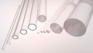 Plastic Tube & Rod Acrylic Extruded Clear Perspex® Bar & Hollow Tubular Pipe