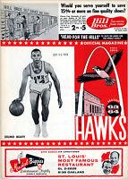 1963-64 NBA NEW YORK KNICKS vs. ST. LOUIS HAWKS GAME PROGRAM (UNSCORED) NM/MT