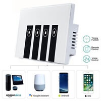 For Amazon Alexa WiFi Smart Wall Switch Touch Panel Remote Control 1/2/3/4 Gang