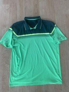 Mens Nike Golf Tour Performance Dri Fit Athletic Golf Polo Shirt Size XL Green