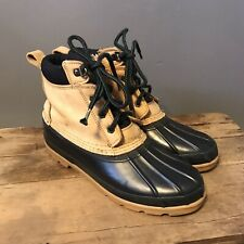 Land's End Vintage Duck Boots 8M Leather Waterproof Ankle Lace Up