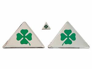 ALFA ROMEO Quadrifoglio Verde Kit 3 pezzi - MiTo 147 156 159 166 Giulietta GT