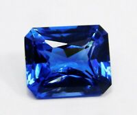 Natural Emerald Loose Gemstone 10 Ct Princess Cut Certified Blue Tanzanite