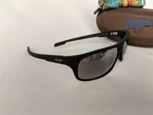 Maui Jim Island Time Polarized Sunglasses Matte Black Rubber/Gray 237-2M Glass