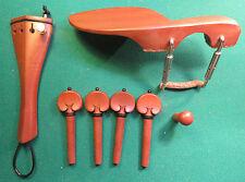 BUX-Garnitur4/4-Geige,Hill-Model,schwarz.Ring,mont.Kinnhalter,gold.Feinstimmer
