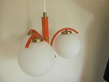 60er/70er Opalglas Lampe Atomium Space Age Bubbles Leuchte orange Panton
