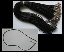 Black Rubber Cord x 100 Necklace OPEN END add beads choker SALE wholesale BULK