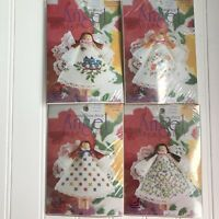 Lot of 4 Angel Clothespin Doll Counted Cross Stitch Kits Designs for the Needle