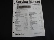 Original Service Manual Technics SA-EX500