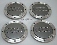 AUDI 4 x 148mm Grau Gray Nabendeckel Felgendeckel  Wheel Cap 4B0601165A